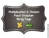 Multiplication & Division Fact Tracker Brag Tags