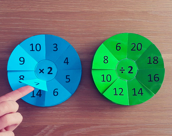 Multiplication and Division Fact Pop Up Wheels