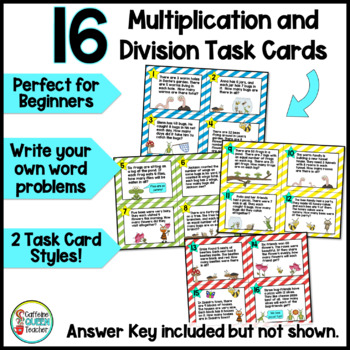 Multiplication and Division Facts One Step Word Problems
