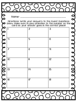 Multiplication and Division Facts: A Classroom Quest