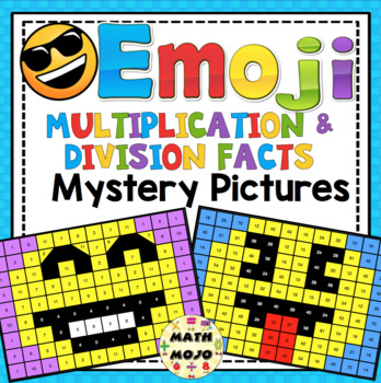 Multiplication and Division Facts Emoji Mystery Pictures - FREEBIE