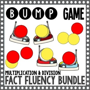 Multiplication and Division Facts - Fact Fluency Bump Game Bundle
