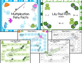 Multiplication and Division Facts Game Bundle