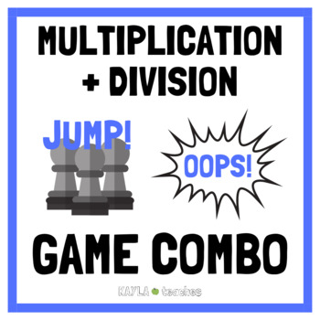 Multiplication and Division Facts Game Combo
