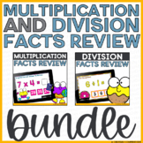 Multiplication and Division Facts Review Boom Cards Bundle