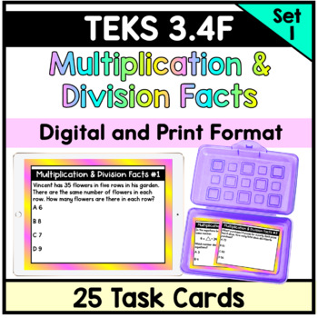 Multiplication and Division Facts- TEKS 3.4F