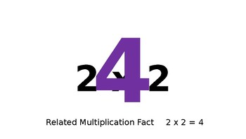 Multiplication and Division Facts Warm Up Slides