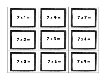 Multiplication and Division Flash Card Freebie