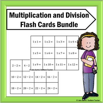 Multiplication and Division Flash Cards Bundle