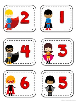 Multiplication and Division Flash Cards BUNDLE 1-12 Superhero Math Centers