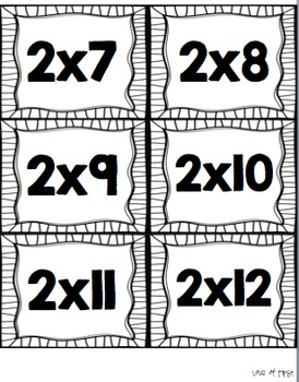 Multiplication and Division Flash Cards BUNDLED