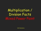 Multiplication and Division Flash Cards  -  Power Point