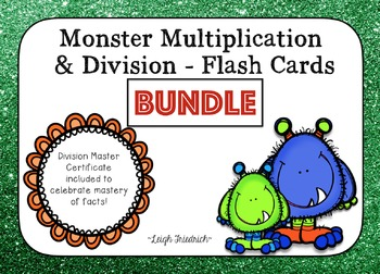Multiplication and Division Flash Cards and Certificates -