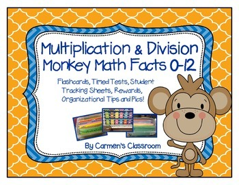 Multiplication and Division Flash Cards and Timed Tests Facts 0-12