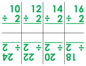 Multiplication and Division Flashcards (0-12)