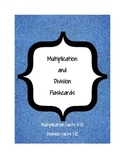 Multiplication and Division Flashcards