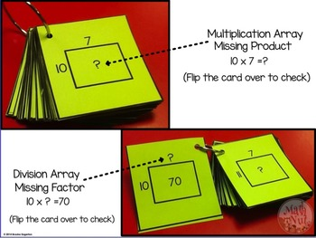 """Multiplication and Division Facts """"Flip-it Flash Cards"""""""