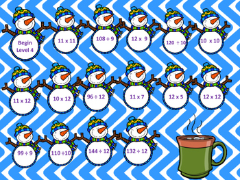 Snowman Multiplication and Division Fluency