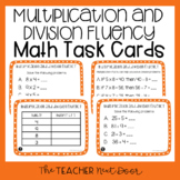 3rd Grade Multiplication and Division Fluency Task Cards