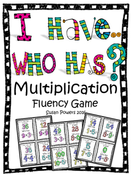 Multiplication and Division Fluency Games