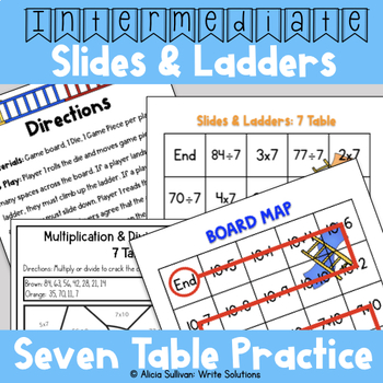 Multiplication and Division Game: 7 Table