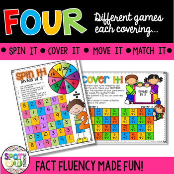 Multiplication and Division Games BUNDLE