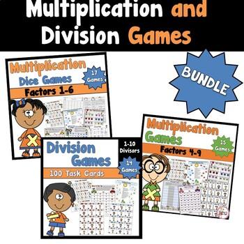 Multiplication and Division Games Bundled