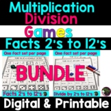 Multiplication and Division Games (Facts 2's to 12's) BUNDLE