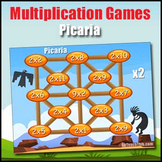 Multiplication Games - Picaria - 2 Times Table to 12 Times Table