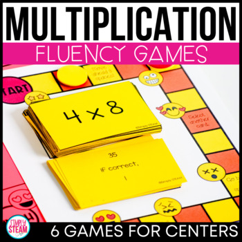 Multiplication Games for Third Grade BUNDLE