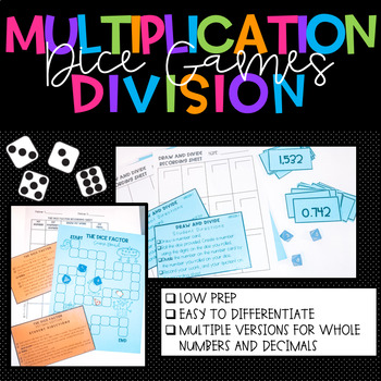 Multiplication and Division Games for 5th Grade