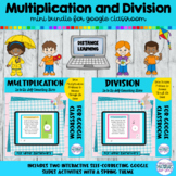 Multiplication and Division Google™ Slides | Spring Games