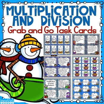 Multiplication and Division Grab and Go Task Cards and Fac