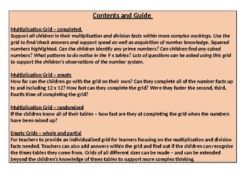 Multiplication and Division Grids