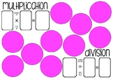 Multiplication and Division Grouping Boards