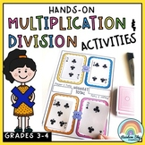 Multiplication and Division Hands on Math activities and g