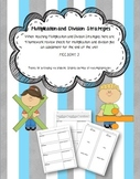 Multiplication and Division Homework and Assessment Pack