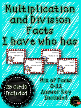 Multiplication and Division I Have, Who Has