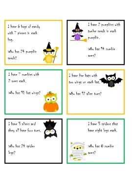 Multiplication and Division: I have... Who has... ~ Halloween