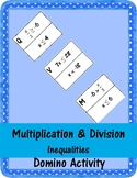 Multiplication and Division Inequalities Domino Activity