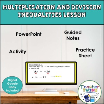Multiplication and Division Inequalities Lesson