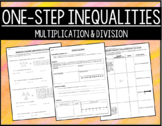 One-Step Multiplication & Division Inequalities Notes & Leveled Classwork (6.9C)