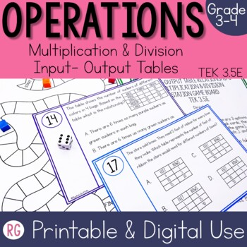 Multiplication and Division Input Output Tables
