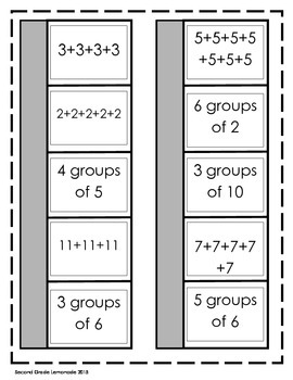 Multiplication and Division Interactive Notebook (Black and White Version)