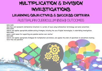 Multiplication and Division Investigations Australian Curriculum