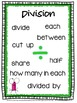 Multiplication and Division Keywords and Posters Freebie
