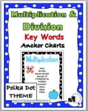 Multiplication & Division Charts - Math Key Words - Polka