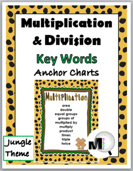 Multiplication Chart and Division Chart - Math Key Word Po