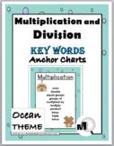Multiplication & Division Charts - Math Key Words – Ocean Theme Classroom Decor