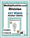 Multiplication & Division Charts - Math Key Words – Ocean